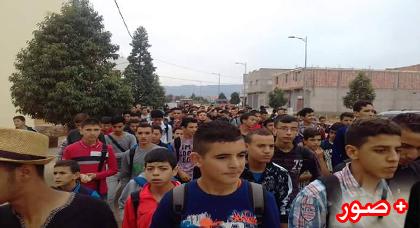 للمرة الثانية خلال أسبوع.. تلاميذ ثانوية بودينار يحتجون على غياب المؤسسات الصحية بعد وفاة زميل لهم