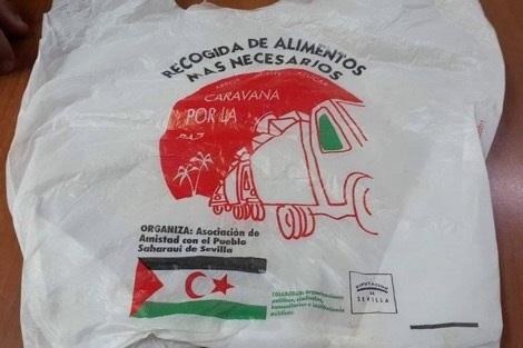 مثير: أكياس بلاستيكية تحمل علم البوليساريو تروج بأسواق الناظور