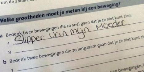 إجابة امتحان لتلميذ مغربي تخلق الجدل بهولندا