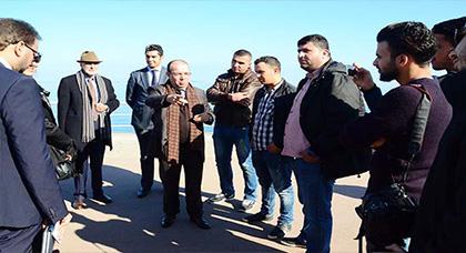 سعيد زارو يتفقّد سير أشغال كورنيش الناظور ويدعو الجمعيات البيئية للاشتغال بمقاربة تشاركية