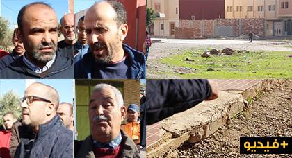 """ساكنة حي أولاد بوطيب سيكتور """"سي"""" تطالب بإتمام أشغال التهيئة وتحمل مسؤولية للجهات المعنية"""