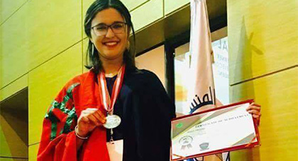 ابنة مدينة الناظور تتوج بالميدالية الفضية في مهرجان العلوم و التكنولوجيا بتونس