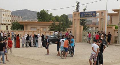 تلاميذ ثانوية مولاي إسماعيل بالدريوش يحتجون بسبب اتهام زميل لهم بتناول المخدرات داخل الفصل