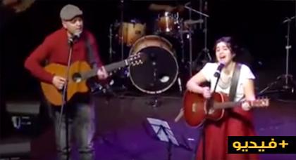 """لينا شريف تتألق في غناء """"خاتشي روازنة"""""""