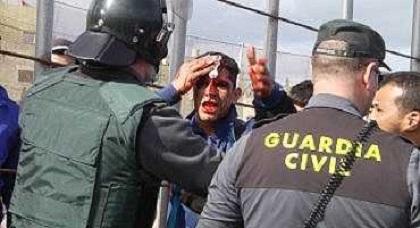 بالفيديو: الحرس المدني بمعبر مليلية يشّق رأس شابّ ناظوري بواسطة زرواطة حديدية