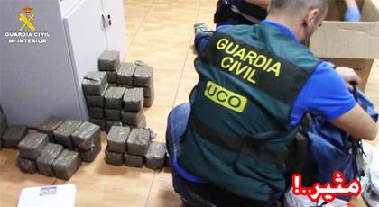إسبانيا تحجز 3 أطنان من الحشيش لدى شبكة دولية يتزعمها مغربي