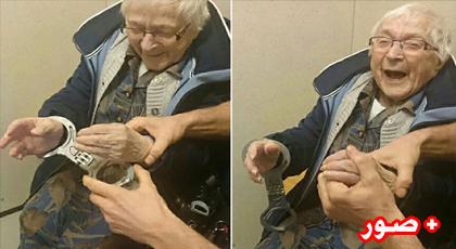 الشرطة الهولندية تعتقل عجوزا تبلغ من العمر 99 سنة لسبب غريب