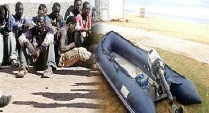 توقيف 55 مهاجرا من جنوب الصحراء كانوا يعتزمون الإبحار من شبه جزيرة أركمان