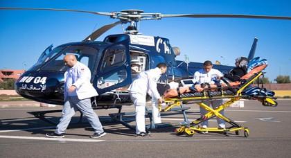 مروحية طبية تنقذ مريضين في حالة حرجة بالناظور صوب المستشفى الجامعي بوجدة