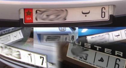 تحذير للسائقين .. غرامة 400 درهم لمن يضع هذه الأشياء على  صفائح تسجيل السيارات