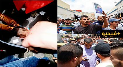 تجار زنقة 10 بحي  أولاد ميمون  ينتفضون في وجه سلطات  المدينة بعد محاولة مصادرة بضاعتهم