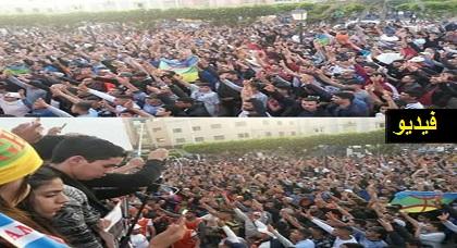 حراكيو العروي يفاجئون الجميع بخوضهم تظاهرة حجّ إليها الآلاف واُعتبرت الأضخم بإقليم الناظور