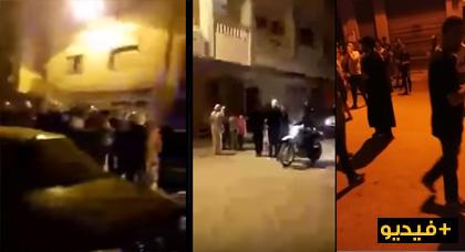 شاهدوا لحظة إعتقال ناشط بالحسيمة ومنع وقفة إحتجاجية بحي المنزه