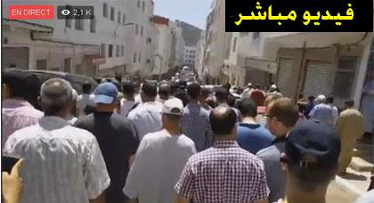 انطلاق مراسيم دفن والد الناشط المرتضى اعمراشن بعد صلاة الجنازة على جثمانه بمسجد موريفيخو