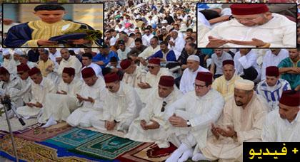 وسط أجواء ربانية مهيبة.. الآلاف من ساكنة الدريوش تؤدي صلاة عيد  الفطر بمصلى العيدين