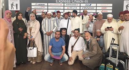 تجمع مسلمي بلجيكا يودع بمطار بروكسيل الدولي بعثة وزارة الأوقاف و الشؤون الإسلامية المغربية.
