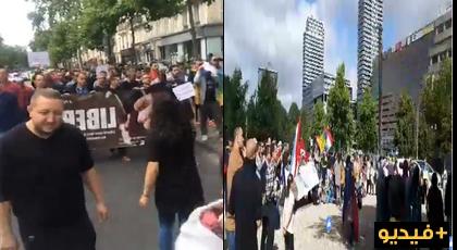 مباشر.. تضامن نسائي بدينهاخ الهولندية مع حراك الريف ومسيرة إحتجاجية بباريس
