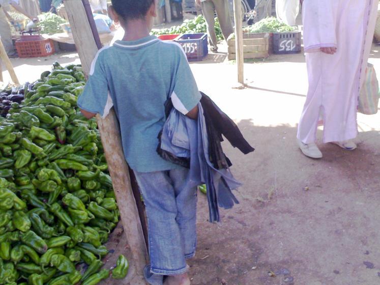 أطفال صغار يقضون عطلتهم الصيفة في ممارسة أعمال شاقة