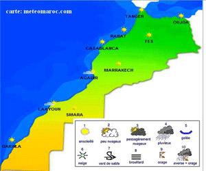 توقع انخفاض درجة الحرارة بالمغرب