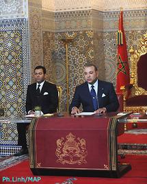 نص الخطاب الذي وجهه جلالة الملك بمناسبة الذكرى ال`56 لثورة الملك والشعب