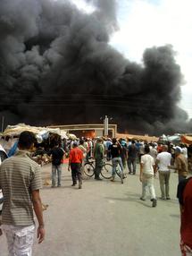 حريق يلتهم السوق الأسبوعي بتاوريرت