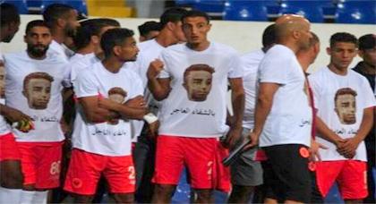 لاعبو نهضة بركان يدعمون نوري في دوري النتيفي أمام الوداد