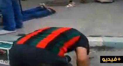 لحظة إطلاق الرصاص على الشاب الذي ذبح جدته  بسلا
