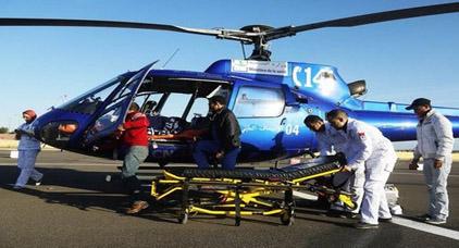 مروحية طبية تنقل طفلة من الحسيمة إلى المستشفى الجامعي بوجدة