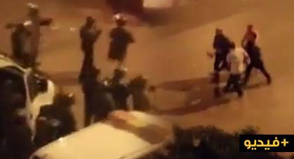 شاهدوا كيف قام الأمن بإعتقالات ليلية بالعروي وسط الشارع العام