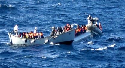 ضمنهم طفلان.. إعتراض زورق في سواحل الحسيمة وعلى متنه 54 مهاجرا سريا