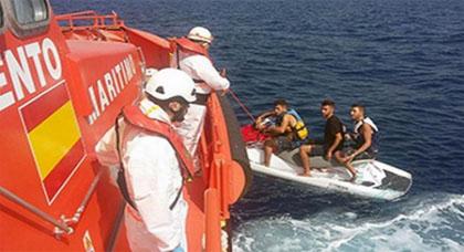 اعتقال مغربي بتهمة تسهيل الهجرة غير الشرعية بعد إنقاذ 3 شبان أبحروا من الحسيمة على متن جيتسكي