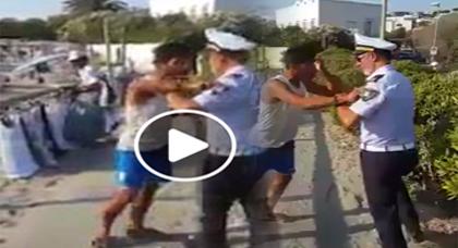 بائع مغربي متجول يتحدى شرطي إيطالي بالقوة