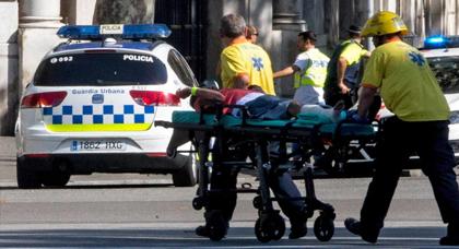 حصيلة الهجوم الإرهابي على برشلونة ترتفع مرى أخرى