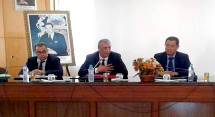 جلسة عمل تجمع العامل فريد شوراق بأعضاء مجلس مدينة الحسيمة