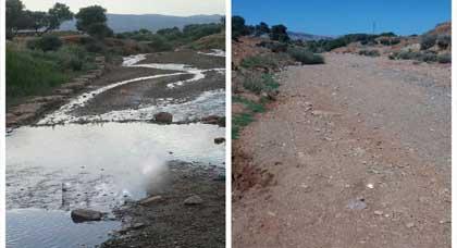 تراجع المياه السطحية في مجموعة من الأودية بتمسمان نتيجة الإرتفاع الكبير في درجات الحرارة