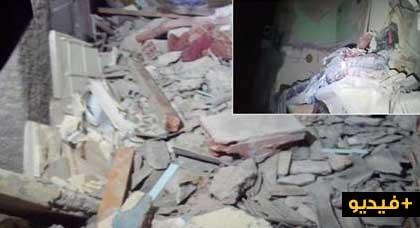 بالفيديو.. مصرع شخص وإصابة ثلاثة آخرين في حادث انهيار منزل من ثلاثة طوابق