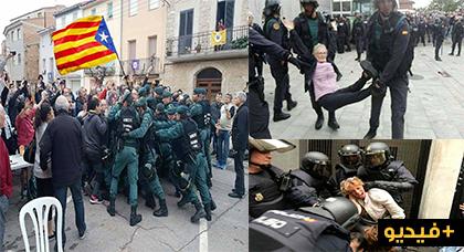 قمع و دماء واعتقالات في صفوف الكتلاونيين يوم إجراء استفتاء الانفصال عن اسبانيا