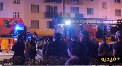 بالفيديو.. مصرع خمسة أشخاص وجرح ثمانية آخرين جراء إندلاع حريق مهول داخل عمارة بفرنسا