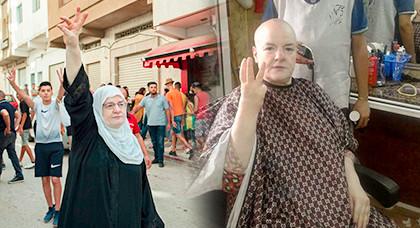 ناشطة بحراك الحسيمة تحلق شعر رأسها تضامنا مع مرضى السرطان