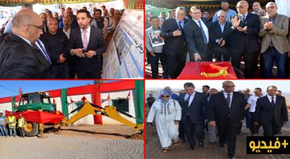 عامل الإقليم يعطي انطلاقة أشغال بناء طريق ومركب متعدد التخصصات بتمسمان ويتفقد مشاريع أخرى
