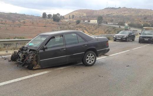 خسائر مادية جسيمة في حادثة سير خطيرة ضواحي الحسيمة