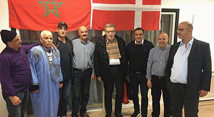 """مغاربة الدانمارك يحتفلون بـ""""فرحتين"""": ذكرى الـ42 للمسيرة الخضراء المظفرة وانتصار الفريق الوطني"""