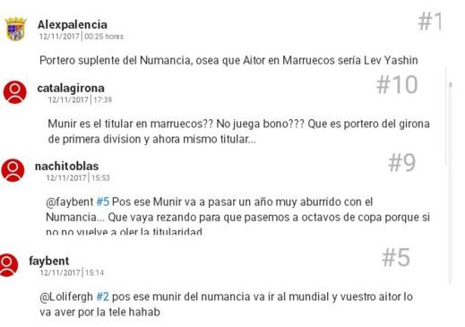 """اشادة صحيفة """"الماركا"""" الاسبانية بانجاز الحارس الريفي منير المحمدي تقسم آراء جمهور فريق نومانسيا"""
