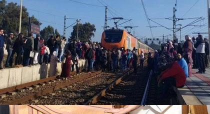 القطار يدهس شرطيا متدربا تحت عجلاته في حادث مؤلم