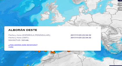 تسجيل هزة أرضية في عمق بحر البوران بقوة 3.9 على سلم ريشتر