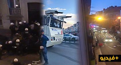 """بالفيديو : من جديد """" بروكسل """" ضحية للشغب والتخريب"""
