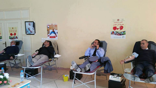 مشاركة حوالي 160 متبرع في حملة التبرع بالدم باركـمان