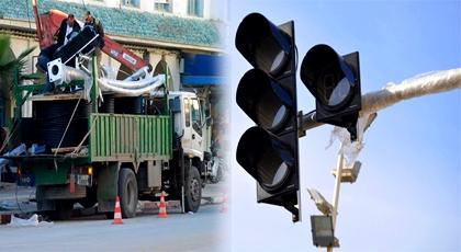 عمالة الدريوش تشرع في تثبيت أعمدة إشارات المرور الضوئية بالمدينة تمهيدا لتنظيم حركة السير والجولان