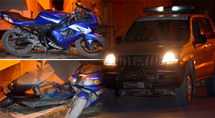 """ليلة """"البوناني"""".. درك الدريوش يوقف شخصين أزعجا الساكنة وهما في حالة سكر ويحجز دراجتين"""