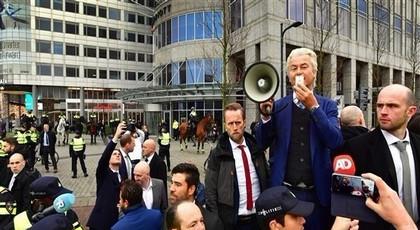 اليمين المتطرف يتظاهر ضد الإسلام في هولندا